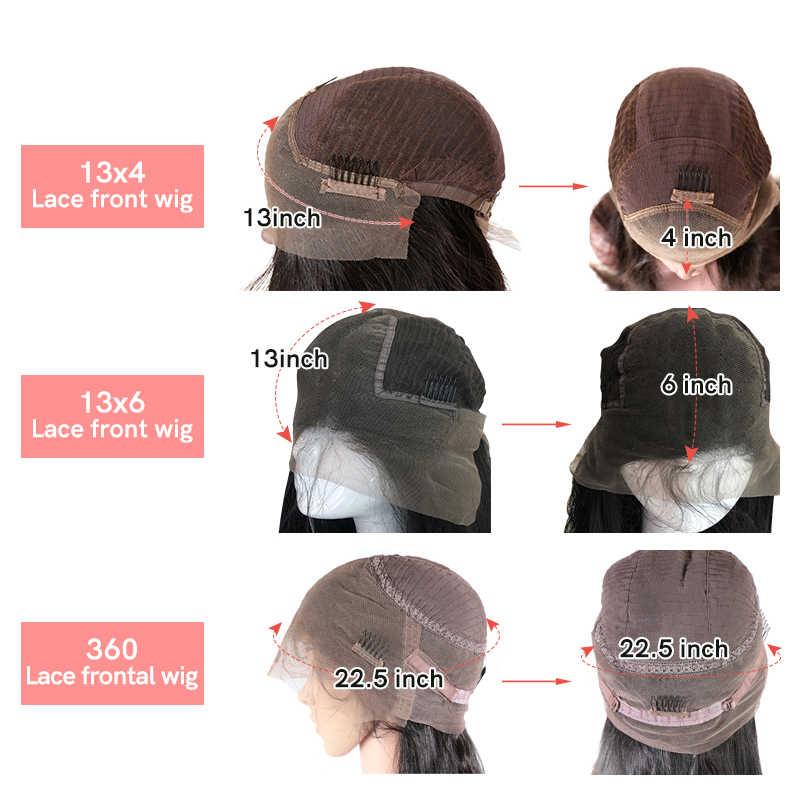 """Ali rainha cabelo 13x4/13x6 peruca dianteira do laço em linha reta cor natural 360 peruca frontal do laço 8 """"a 36"""" virgem remy perucas de cabelo humano"""