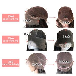 """Image 5 - Peluca con malla Frontal recta para mujer peluca de cabello humano Remy virgen Ali Queen de 8 """"a 26"""", color negro Natural, peluca Frontal de encaje 360, 13x4/13x6"""