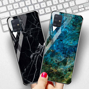 Marble Tempered Glass Case For Samsung Galaxy A51 A71 Cases Samsung Note 20 Ultra 10 Lite S20 S8 S9 Plus S10e J4 J6 Cover Fundas