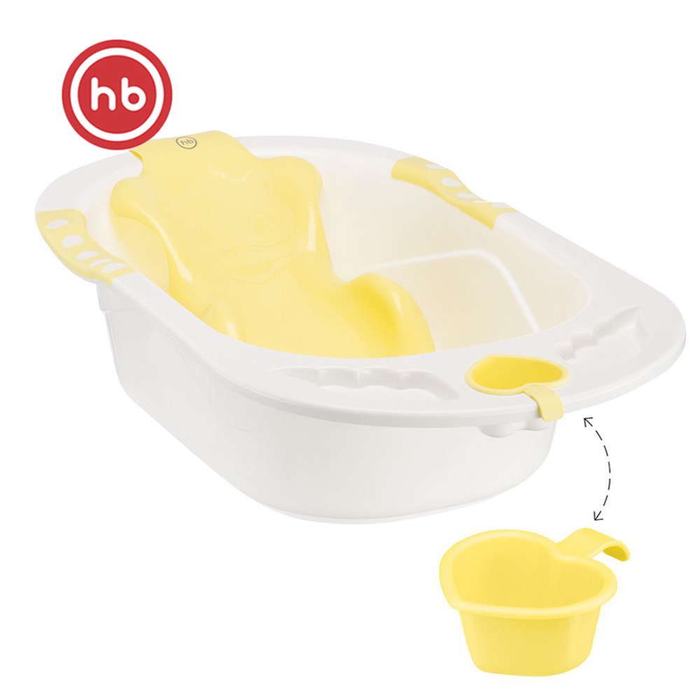 Baby Tubs Happy Baby 34005 Yellow baby bath for babies bathing PVC