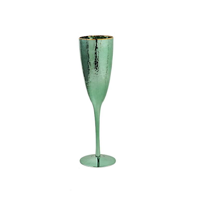 Light luxury Plated green three-dimensional hammered glasses