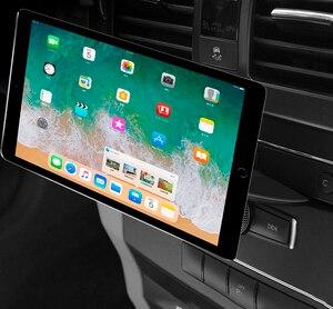 Support de Téléphone de voiture Aimant Support CD Port Tablette PC Support Magnétique Support Automatique pour iPad 9.7 10.5 11 MINI 4 Samsung Tab Support GPS