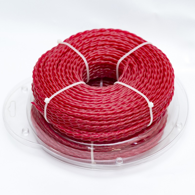 Super Quality 60M Long Spiral Trimmer Line, Line Spool For Grass Trimmer, Brush Cutter