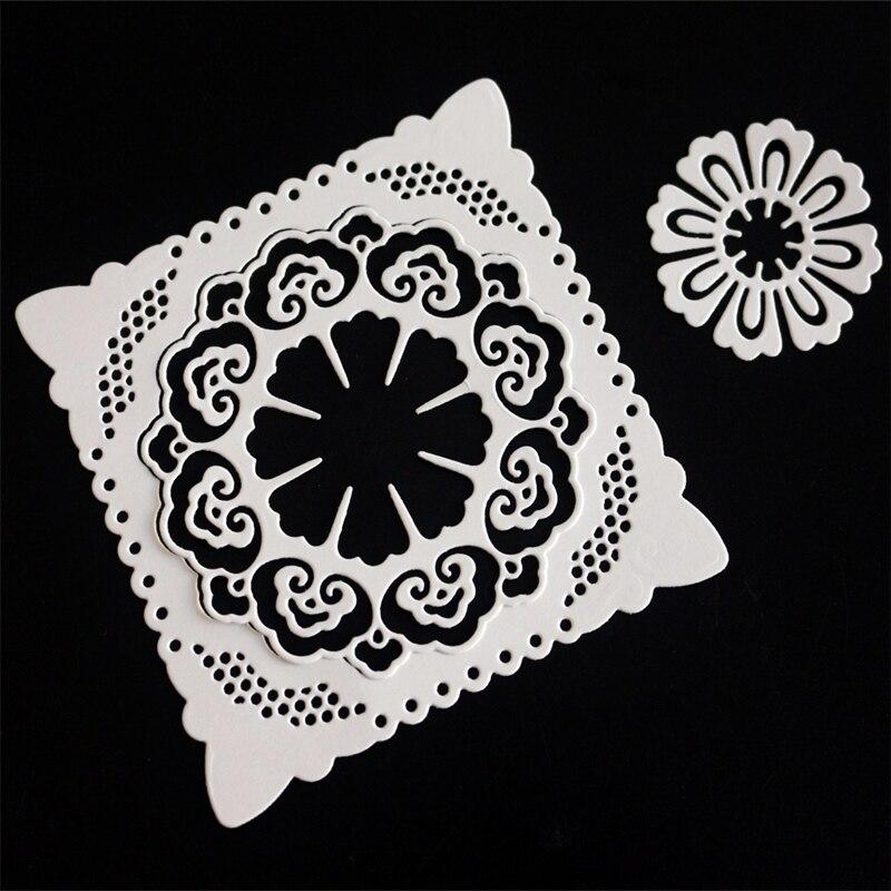 Cards Cover Lace Decor Metal Cutting Dies Stencils for DIY Scrapbook Album//photo