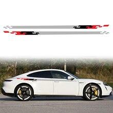 אוניברסלי רכב מדבקת שלושה צבעים רצועת סגנון מירוץ רכב גוף צד מדבקות עבור כל מכוניות מדבקות