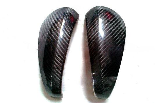 Fibra de carbono espelho capa estilo do carro kit apto para caymans 987 boxster s