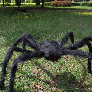 Horror Hairy Giant Spider Halloween Decoration 150cm Spider Prop For Halloween Haunted House Party Decals Art Sticker Outdoor(China)