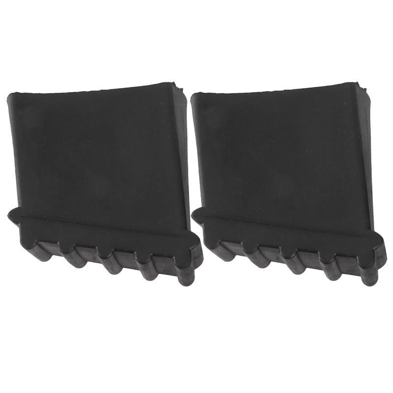 2Pcs Household Ladder Non-slip Pads Ladder Feet Covers Ladder Accessories Black
