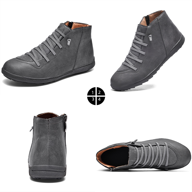Image 5 - 2020 New Men Boots Leather Ankle Boots Women High Quality PU Desert Boots Couples Fluff Men Sneakers Casual Shoes DropshippingMens Casual Shoes   -