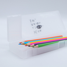 1 PCS Simple Transparent pencil case Frosted Plastic Pencil Pens storage box stationery Office&school Supplies 3 specifications muji style simple transparent pencil case flamingo cactus pencil box plastic storage box learning stationery office supplies