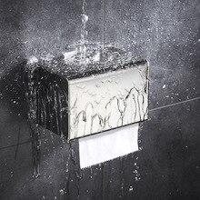 Toilet Paper Towel Box Drill-free Stainless Steel 304 Drawer  Shelf Waterproof Holder