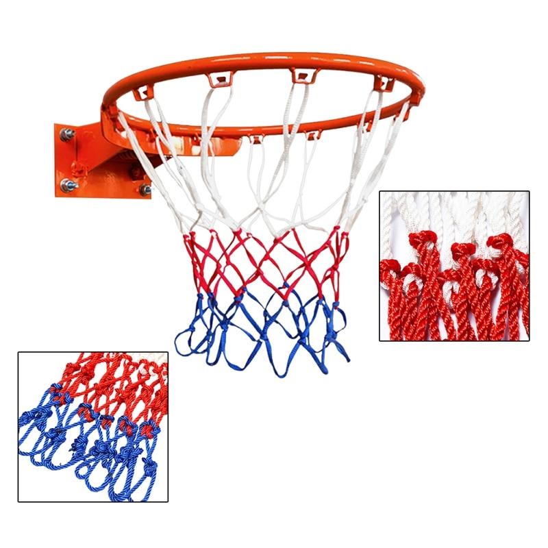 Прочный стандартный размер, нейлоновая нить, спортивный баскетбольный обруч, сетчатая сетка, задняя доска, обод, мяч для Мопса