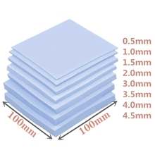High quality 100*100mm GPU CPU IC Thermal Pad for Memeory Electronic Chip Small Heatsink