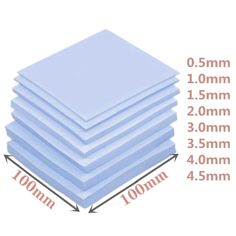 Memeory 전자 칩 소형 방열판을위한 고품질 100*100mm gpu cpu ic 열 패드
