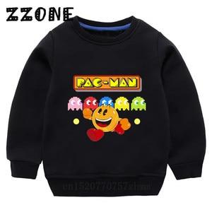 Детские свитшоты с героями мультфильмов «Человек-паук» детские забавные толстовки с капюшоном «Pacman» пуловер для малышей топы для девочек и...