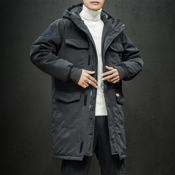 Winter Jacket Men Long Hooded Parka Mens Thick Warm Black Military Tactical Windproof Outerwear Sports Cargo Parkas Coat M-5XL