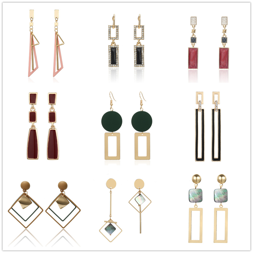 Korean Eearring For Women Shell Acrylic Asymmetrical Eearrings 2019 Statement Long Earrings Jewelry Accessories