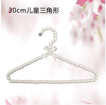 40cm Perlen Metall Kleider Kleiderbügel Mantel Hosen Kleider Haken Haken