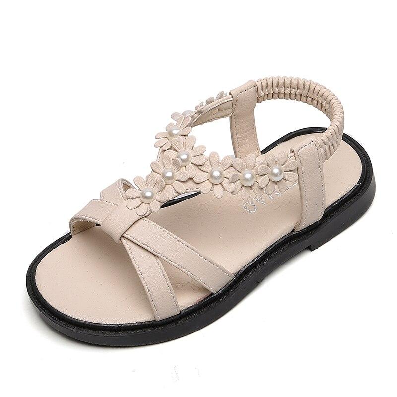 Girls Sandals Kids Big Children Summer Beach Shoes Floral Sweet Princess Sandals Soft Flower Girl Shoes For Wedding Fashion Cute