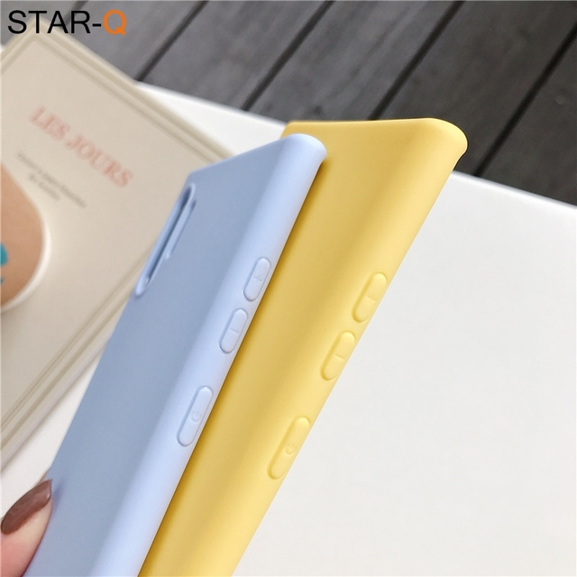 candy color silicone phone case for samsung galaxy note 10 9 8 s10 s10e s9 s8 s20 plus e galaxi matte soft tpu back cover cases 5
