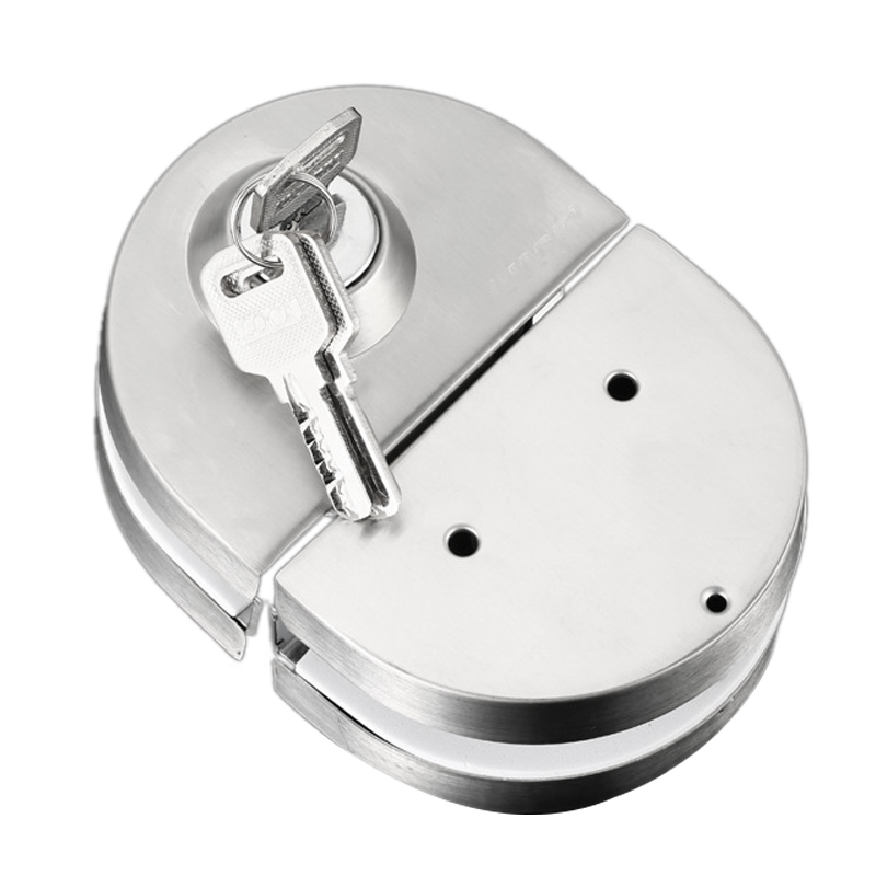 FFYY-10-12Mm Glass Door Lock Stainless Steel Double Bolts Swing Push Sliding Access Control