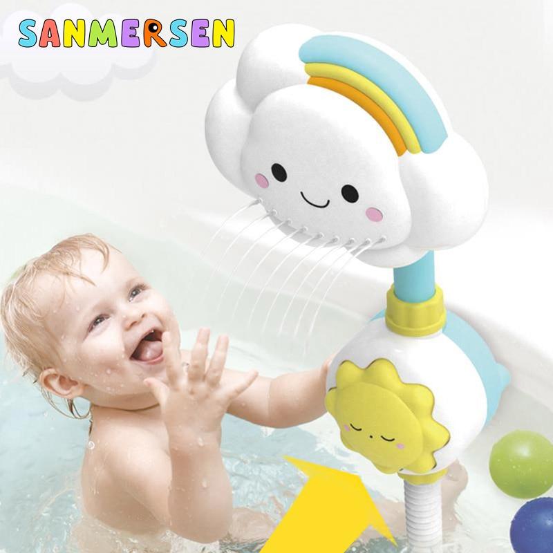 Cute Baby Bath Toys Faucet Shower Whale Dinosaur Eggs Children's Bath Spout Play Water Swimming Bathroom Bathing Toys For Kid