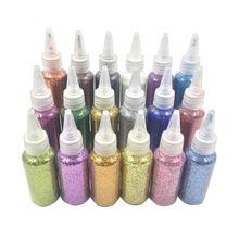 30 г блестящий порошок блестки наполнитель прозрачный/пушистый слизи игрушки для глины грязи ногтей искусство 964C