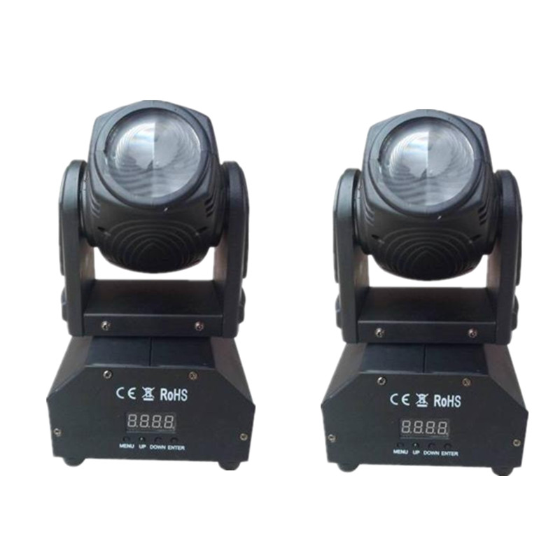 2pcs/lot RGBW Mini 10W Beam LED Moving Head Light/ High Power 10W 4in1 LED Strong Beam Stage Lights Party Disco DJ Spot Lighting