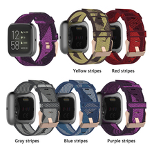 Nylon Watchband For Fitbit Versa 2 Bracelet 23mm Smart Watch Strap For Fitbit Versa Lite Wristband Replacement Accessories Band tencloud replacement strap for fitbit versa 2 band stainless steel metal bracelet for versa versa lite smart watch wristband