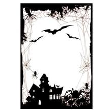 Halloween Bizarre Castle Transparent Clear Stamp/Seal for DIY Scrapbooking/photo Album Decorative Stamp Sheets 10*15cm