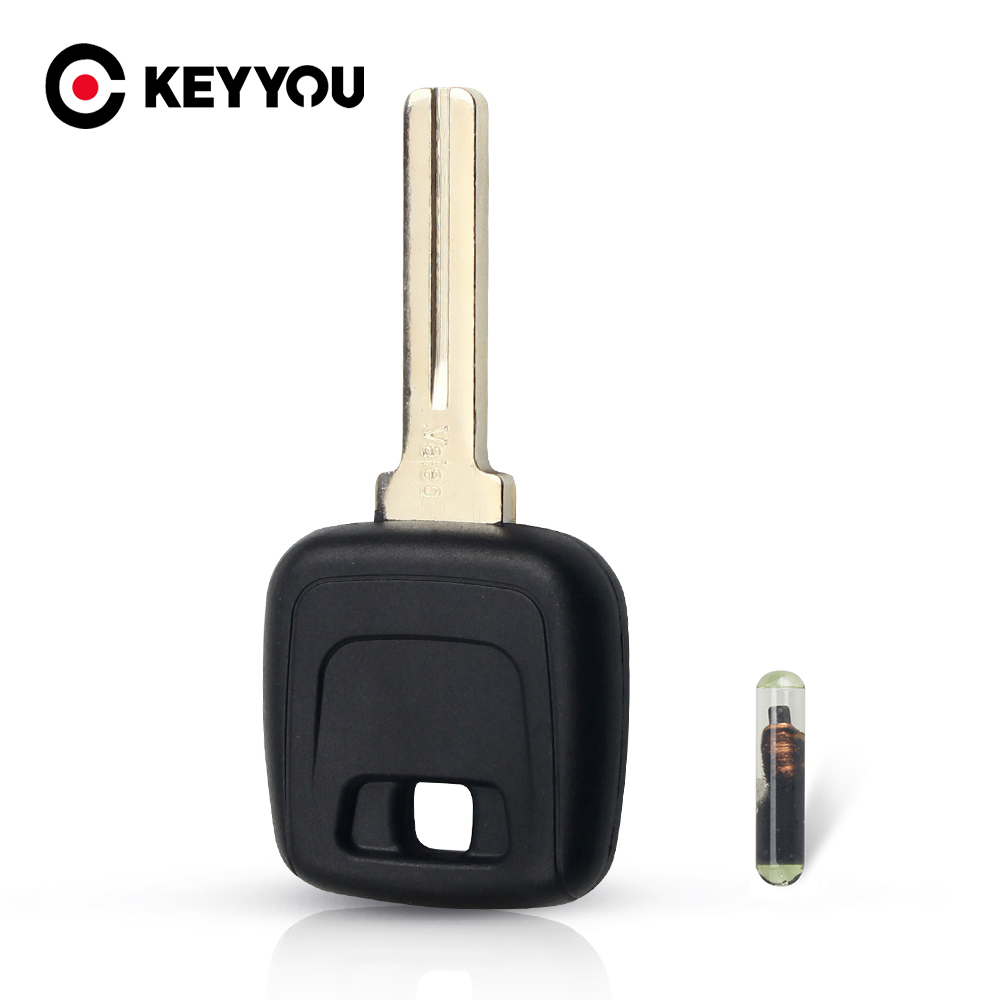 KEYYOU Car Key Shell Case Cover Housing Case For Volvo VOLVO S40 V40 D30 S60 S80 XC90 XC60 With ID48 Chip Uncut NE66 Blade