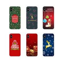 TPU Transparent Cover Bag For LG G3 G4 Mini G5 G6 G7 Q6 Q7 Q8 Q9 V10 V20 V30 X Power 2 3 K10 K4 K8 2017 happy New Year Christmas(China)