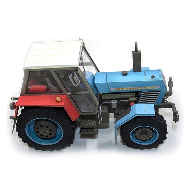 Crystal 120 45 Tractor Czech Folding Mini 3D Papercraft DIY Adult Craft 6