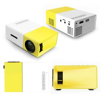 US Plug G300 Home Mini Projector LED Entertainment Portable 1080 HD Projector
