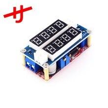 2 em 1 xl4015 5a potência móvel cc/cv step-down módulo de carga led driver voltímetro amperímetro tensão constante atual