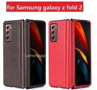 Funda de cuero de lujo para Samsung Galaxy Z Fold2 5G, cubierta a prueba de explosiones, carcasa Vintage para Galaxy Z Fold 2
