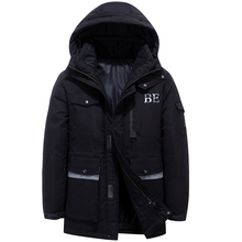 2019 New Winter Men #8217 s Down Jacket Stylish Male Down Coat Thick Warm Man Clothing Brand Men #8217 s Apparel Warm Parka 1909 cheap JUNGLE ZONE Thick (Winter) L1909 REGULAR Casual zipper Full Solid Denim NONE Button Pockets Zippers Appliques Polyester