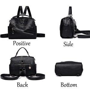 Image 4 - Luksusowy podwójny zamek błyskawiczny torebki damskie torebki projektant marki kobiece torby na ramię Crossbody dla kobiet skóra Sac główna torebka damska