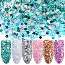 6 цветов/набор гранулы для искусства ногтей
