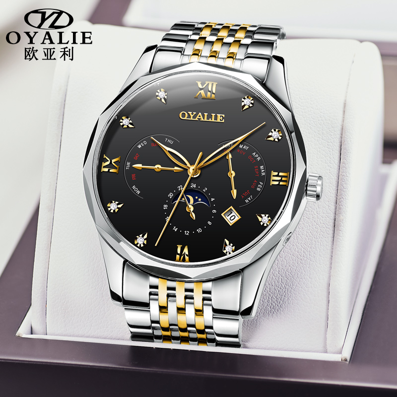 Watches Men's Automatic Mechanical Watches Refined Steel Multifunctional Waterproof Watches