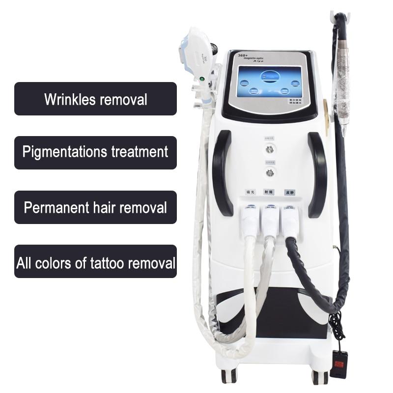 2019 meilleur CE approuvé 3 en 1 IPL SHR OPT machine d'épilation RF visage levage et pico laser/ndyag laser pour le retrait de tatouage