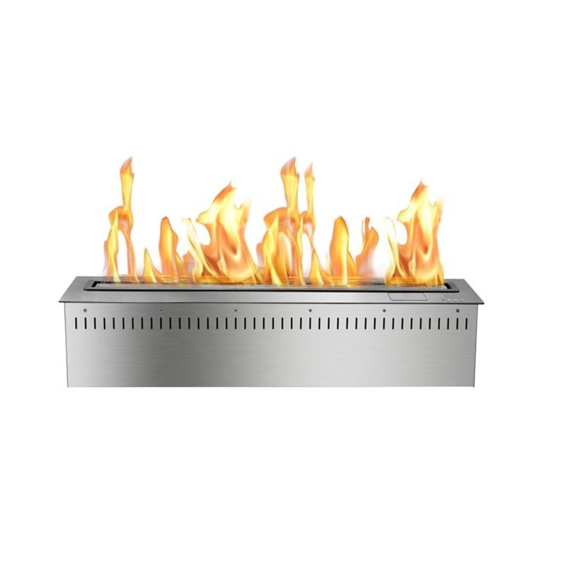 30 Inch Bio Ethanol Burner Insert Freestanding Modern Fireplace