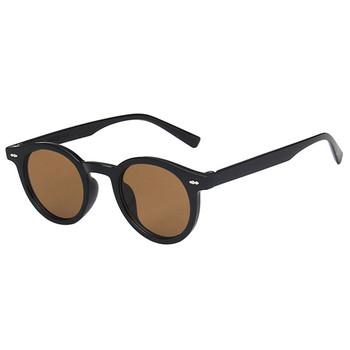 Proste męskie małe okulary przeciwsłoneczne damskie okrągłe okulary damskie damskie okulary przeciwsłoneczne męskie eleganckie okulary óculos De Sol tanie i dobre opinie curtain CN (pochodzenie) WOMEN Owalne Dla dorosłych Z tworzywa sztucznego UV400 Żywica 18046 Black China Gafas Oculos
