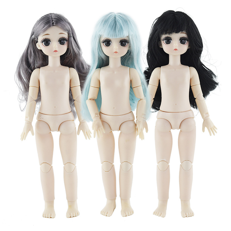 1/6 BJD Doll 28CM OB Doll With 4D Eyes Changeable 21 Joint Moveable Dolls For Childrens Toys Kids Toys For Girls Baby Dolls