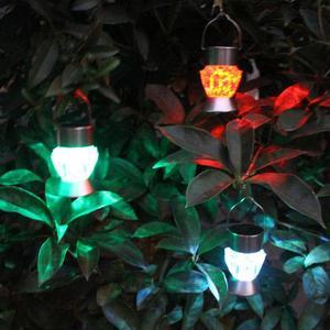 Image 4 - Solar Garden Lights, 1 Pcs Solar Lanterns Lights Rotatable Outdoor Garden Camping Hanging Light LED Diamond Lamp 7 colors Light
