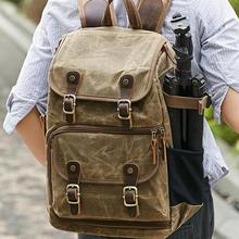 Photography Backpack Canvas Camera Outdoor Waterproof Bag For Canon Nikon Sony Digital SLR
