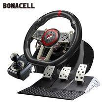 900 ° Racing Games Stuurwiel Computer Leren Auto Simulatie Rijden Machine Accelerator Rem Versnellingspook Volledige Set Voor PS4