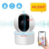 N_eye-cámara IP inalámbrica de 8MP/4K, sistema de vigilancia de seguridad del hogar con seguimiento humano por Ia, Wifi, Monitor de bebé, envío desde almacén
