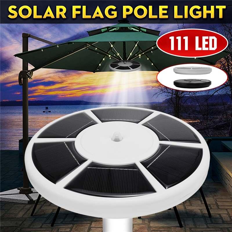 Outdoor Downlight 111 LED Solar Flag Pole Lights Waterproof Flagpole Lamp Solar Umbrella Light Downlight Lighting