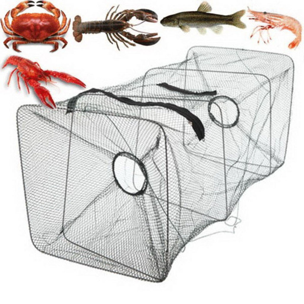 2019 NEW Fish Trap Net Fishing Gear Crab Prawn Shrimp Crayfish Lobster Crawdad Foldable crayfish catcher Fishing Accessories